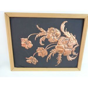 Copper pressed flowers picture